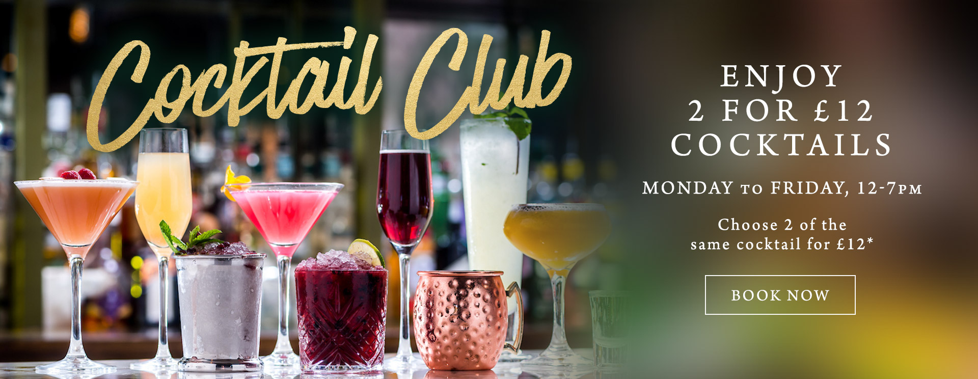 2 for £12 cocktails at The Fox & Hounds